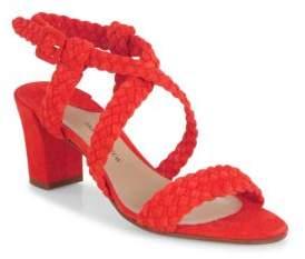 Paul Andrew Elisabet Woven Suede Block-Heel Sandals