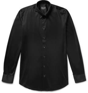 Giorgio Armani Slim-Fit Button-Down Collar Cotton-Jersey Shirt