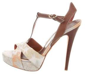 Missoni Metallic Platform Sandals