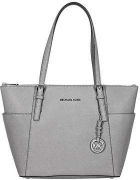 Michael Kors Jet Set Pearl Grey Saffiano Leather Zip-Top Tote - ONE COLOR - STYLE