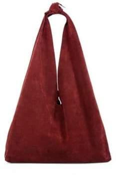 The Row Bindle Suede Hobo Bag