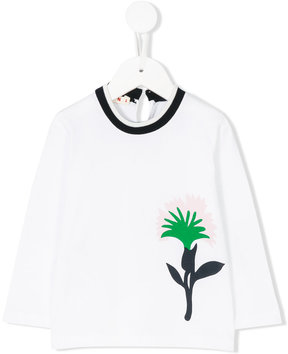 Marni Kids flower print long sleeve T-shirt