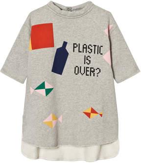 Bobo Choses Grey Plastic is Over? Pocket Dress