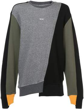 Mostly Heard Rarely Seen colour block sweatshirt