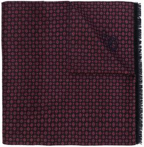 Canali fringed pattern scarf