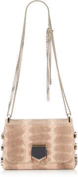 Jimmy Choo LOCKETT MINI Ballet Pink Hardwick Snake Shoulder Bag