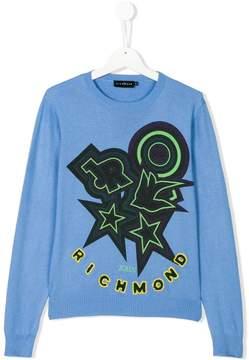 John Richmond Kids Teen intarsia jumper