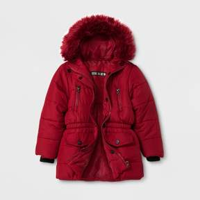 Stevies Toddler Girls' Puffer Jacket - Navy