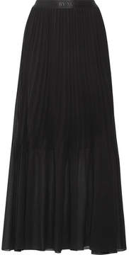 By Malene Birger Lallah Pleated Chiffon Maxi Skirt - Black