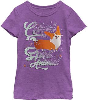 Fifth Sun Purple Berry 'Corgi Is My Spirit Animal' Crewneck Tee - Girls