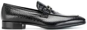 Roberto Cavalli reptile effect loafers