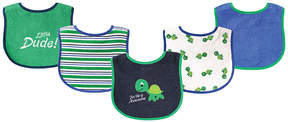 Luvable Friends Green & Blue Turtle Bib Set