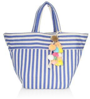 JADEtribe Nautical Stripe Beach Tote
