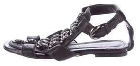 Thomas Wylde Skull-Embellished Leather Sandals