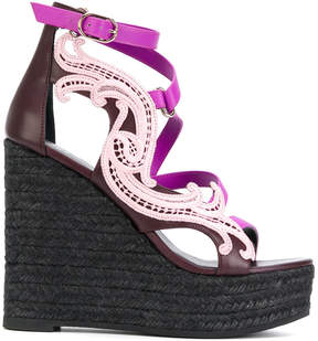 Versace Baroque wedge sandals