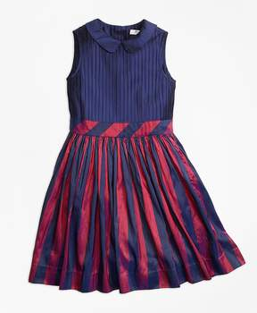 Brooks Brothers Sleeveless Stripe Silk Dress