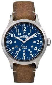 Timex TW4B01800 Expedition Scout Men's Watch Brown 40mm Stainless Steel