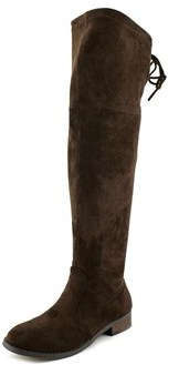 Very Volatile Briar Women Round Toe Canvas Brown Over The Knee Boot.