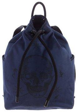 Alexander McQueen Skull Tattoo Drawstring Backpack w/ Tags