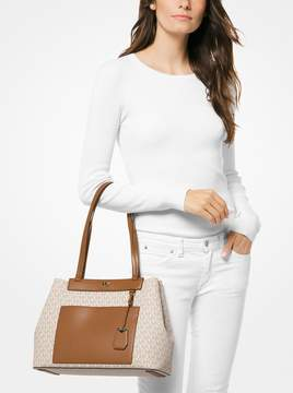 MICHAEL Michael Kors Meredith Medium Logo and Leather Tote