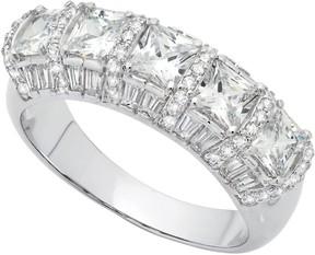 Crislu Romance Prong Set CZ & Pave Accented Ring