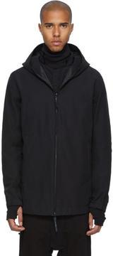 11 By Boris Bidjan Saberi Black Diagonal Stripe Hooded Jacket