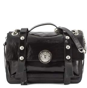 Balmain Shoulder Bag In Black Leather.