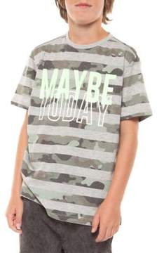 Dex Boy's Striped Camo Cotton Tee