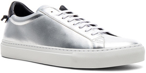 Givenchy Leather Urban Tie Knot Sneakers in Metallics.