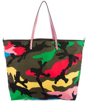Valentino Camouflage Reversible Tote