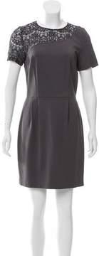 Barneys New York Barney's New York Lace Paneled A-Line Dress