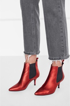 Anine Bing Stevie Boots Red Metallic
