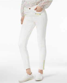 Cynthia Rowley Cr By Embroidered Skinny Pants, Created for Macy's
