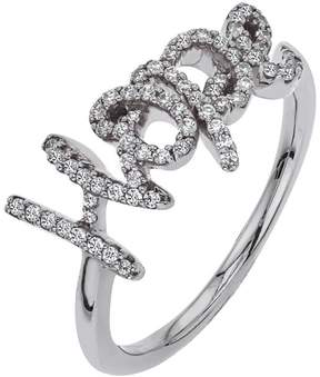 Ice Diamond HOPE Ring in Sterling Silver