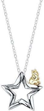 Disney Two-Tone 10K Gold and Silver Winnie the Pooh Start Pendant Necklace