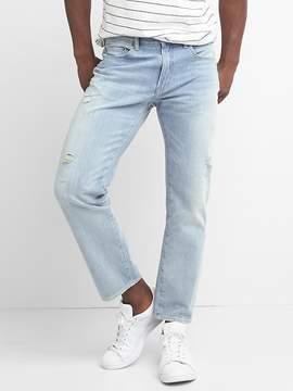 Gap Lightweight destructed slim fit wader jeans (stretch)