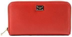 Dolce & Gabbana Dauphine Zip Around Wallet - RED - STYLE