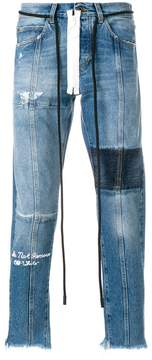 Off-White panelled jeans
