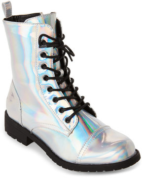 Wild Diva Hologram Combat Boot
