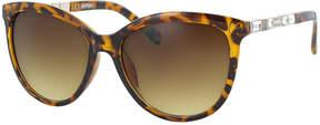 Kay Unger Tortoise Matilda Square Sunglasses