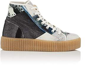 MM6 MAISON MARGIELA Women's Creeper-Sole Twill Sneakers