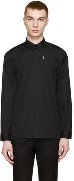 Givenchy Black Embroidered Cross Shirt