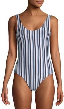 Onia Women's Kelly Striped One-Piece Swimsuit