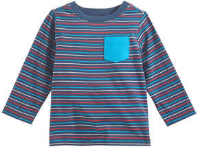 First Impressions Striped Pocket T-Shirt, Baby Boys (0-24 months), Created for Macy's