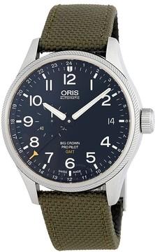 Oris Big Crown Propilot Automatic Men's Green Textile Watch