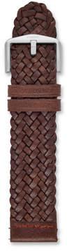 Fossil 22mm Dark Brown Braided Leather Watch Strap