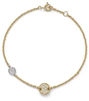 Bloomingdale's Diamond Double Disc Bracelet in 14K White and Yellow Gold, .16 ct. t.w.