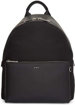 Fendi Black Tapestry Strap Backpack
