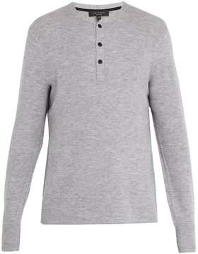 Rag & Bone Gregory long-sleeved wool-blend henley top