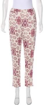 Baja East Printed Mid-Rise Pants